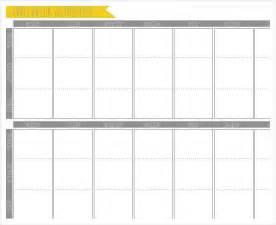 week schedule template week calendar template 6 free sle exle format