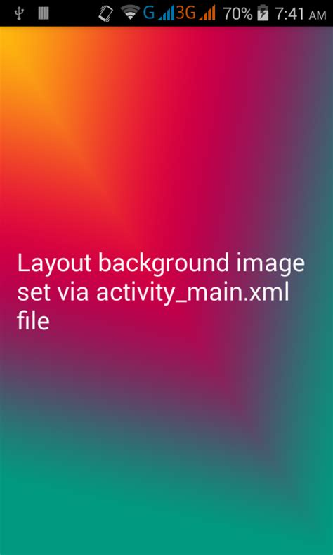 set background image   layout android xml android