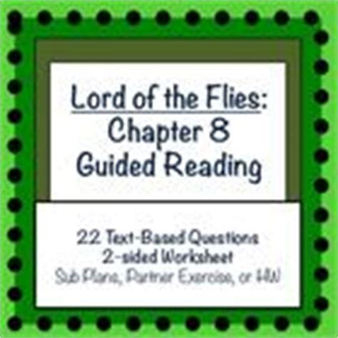 theme for lord of the flies chapter 8 lord of the flies chapter 8 guided reading simple sub