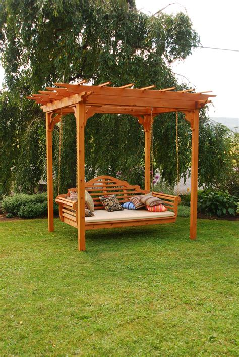 pergola swing garden cedar pergola swing optimizing home decor ideas