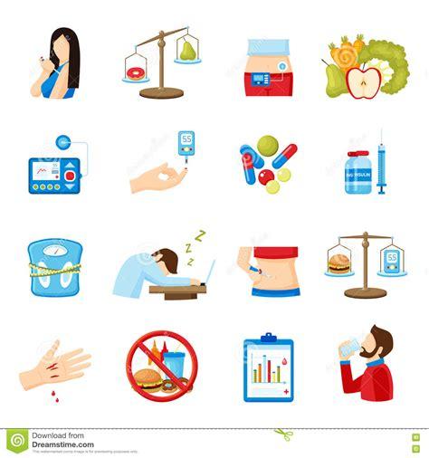 raccolta clipart raccolta piana delle icone dei segni di sintomi