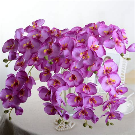 Silk Flower aliexpress buy fashion orchid artificial flowers diy