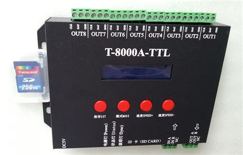 t 8000a sd card led controller for programmable rgb pixel