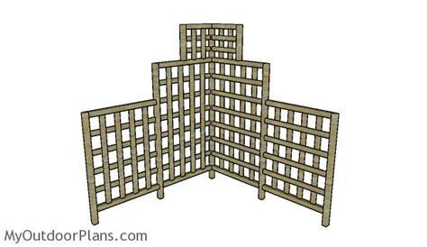 free trellis plans corner trellis plans myoutdoorplans free woodworking