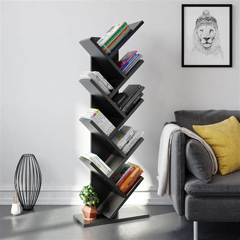 Tree Book Rack by Tribesigns 9 Shelf Tree Book Shelf Modern Bookcases And