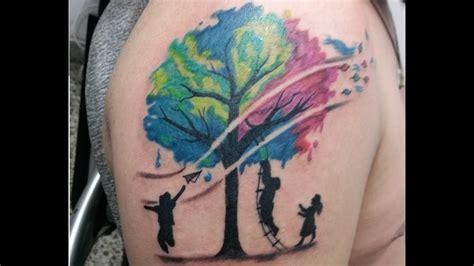 watercolor family tattoo watercolor tree tattoo arbol acuarelado youtube