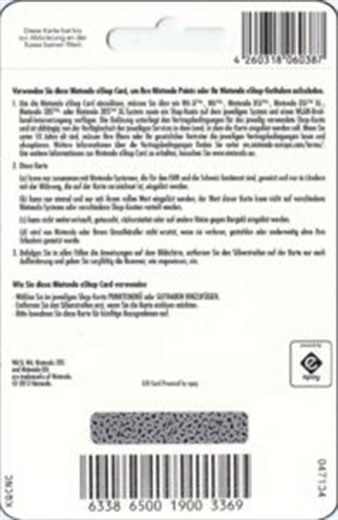 Nintendo Eshop Gift Card Codes - gift card nintendo eshop card nintendo germany federal republic nintendo col d