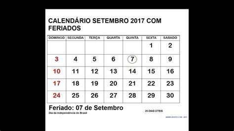 Calendario Lunar Setembro 2017 Calend 193 Setembro 2017 Feriados