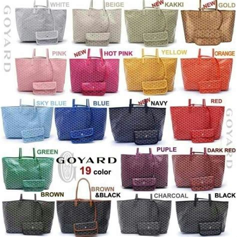 goyard colors goyard louis tote bag clutch 고야드 생루이백 클러치백 가방