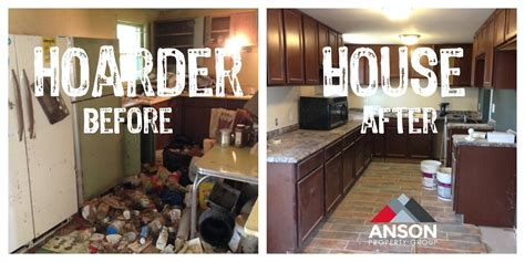 before and after homes hoarder house before and after anson property group llc