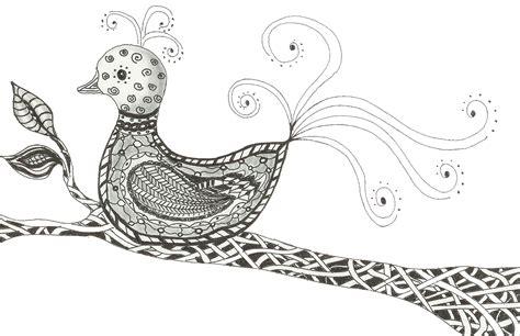 tangle trance zentangle journey day  bird  paradise