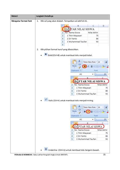 tutorial excel untuk profesional ebook tutorial microsoft excel untuk pemula smp