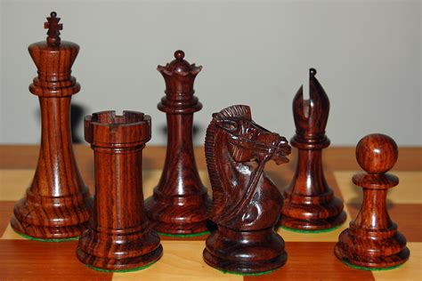 chess set pieces dalbergia