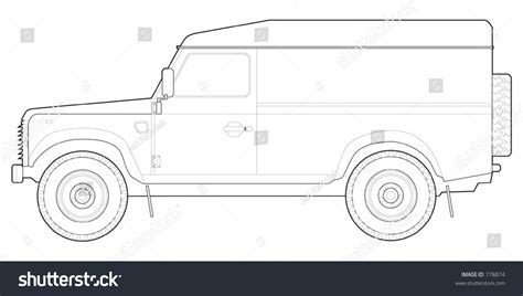 land rover defender vector land rover defender 110 hard top stock vector 778874