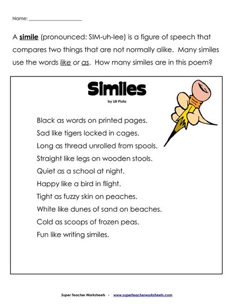 Simile And Metaphor Worksheet For Middle School by 101 Best Images About Simile Metaphor On