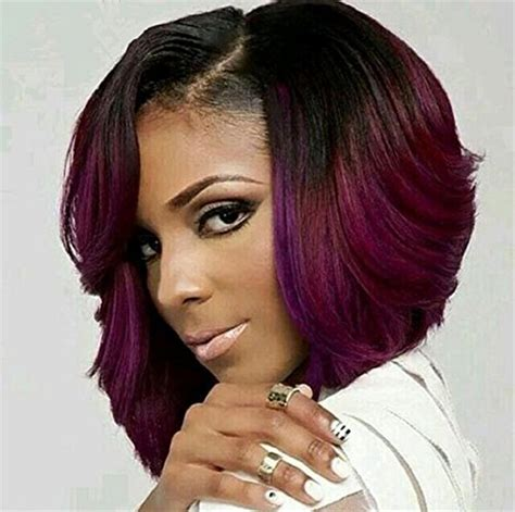 ombre hair weave african american atozwig ombre red bob wigs for black women synthetic short