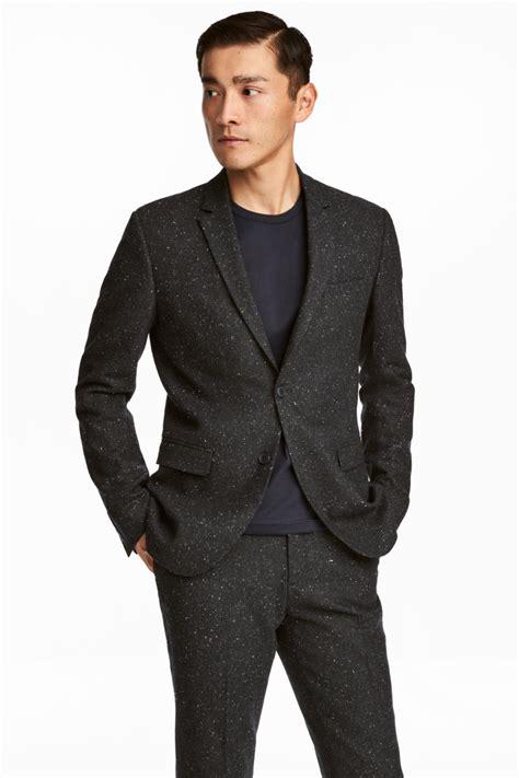 Blazer Well Black List Grey Ready nepped blazer slim fit gray nepped sale h m us