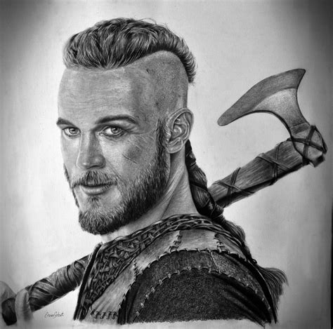 travis fimmel vikings ragnar lothbrok by ercansebat on