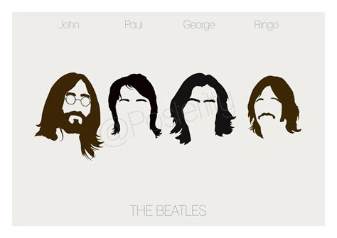 Kaos The Beatles Logo Stencil beatles minimal poster by posteritty by posteritty on