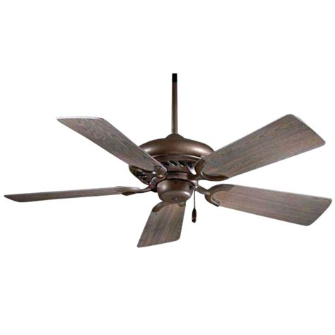 ceiling fan with five blades in rubbed bronze finish