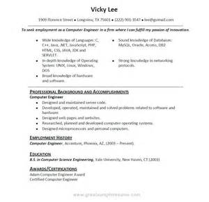 example great resume professional resume in computer science great resume examples berathen com