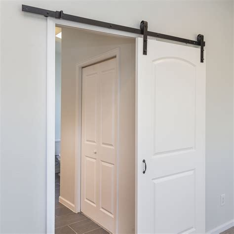 barn door rail kit 2m heavy duty sliding door track system set barn wood