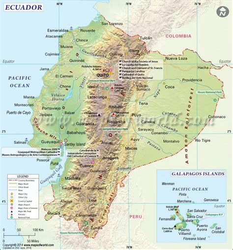 printable road map of ecuador ecuador map map of ecuador