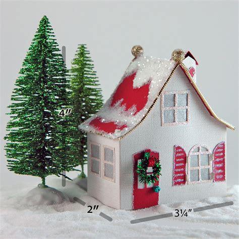 printable christmas village house carlie miniature glitter villages