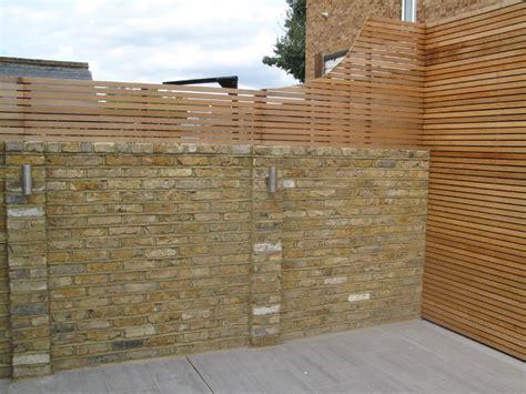 Reclaimed Brick Garden Walls Western Cedar Battens On Reclaimed Stock Brick
