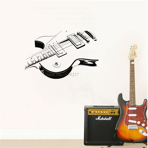 Guitar Wall Decor by Dctop Wholesale Electric Guitar Wall Sticker Vinyl