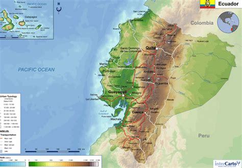 ecuador physical map geography detailed map of ecuador