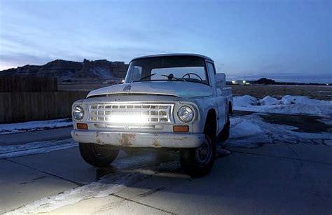road led light bar for trucks how a led light bar brightens road for 1963 international