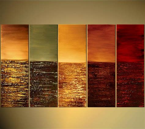 abstract warm color tones oil painting hand painted wall