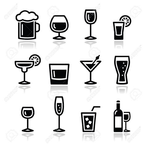 alcoholic drinks clipart glasses clipart shot glass pencil and in color glasses