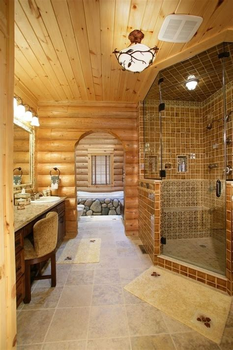 Log Cabin Bathroom Accessories Log Cabin Master Bathroom Log Cabin Master Bathrooms