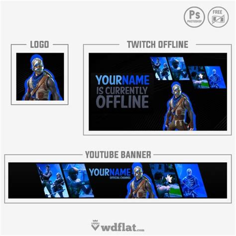 fortnite banner template fortnite banner and logo twitch and templates