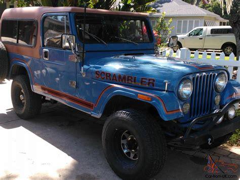 Jeep Scrambler Cj8 Sky Blue W Rally Top Family Roll Bar