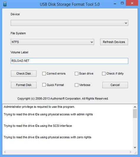 format fat32 portable скачать usb disk storage format tool 5 3 portable