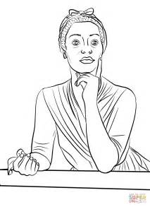 coloring pages booker t washington winnie mandela black history month coloring page