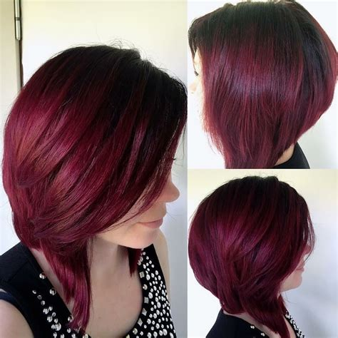 hairstyles without dying roots dark red ombre with shadow roots μαλλιά και ομορφιά