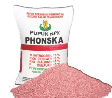 Pupuk Majemuk Npk Phonska 7 jenis pupuk kimia yang sering digunakan oleh petani