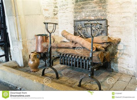 Country Kitchen House Plans medieval fireplace stock image image of close