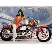 Harley Davidson Sexy Hot Girls  Bikini Girl On Custom Chopper