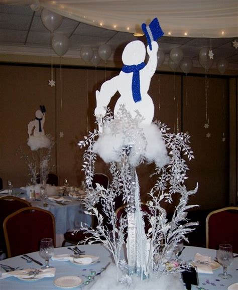 snowman centerpiece ideas snowman centerpiece wedding inspiration