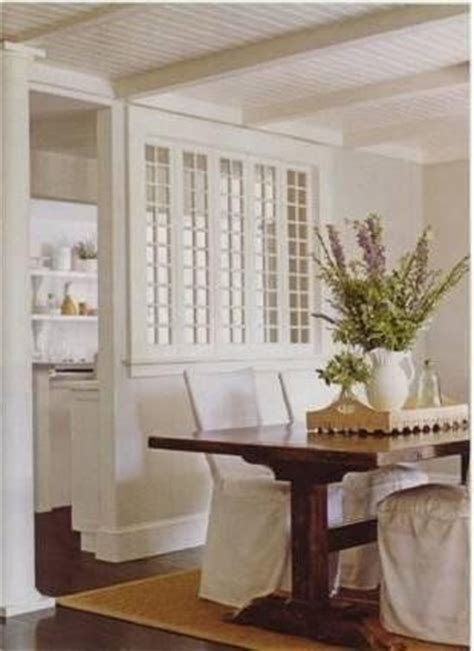 Window Between Dining Room And Kitchen 17 Best Images About White On House Beautiful