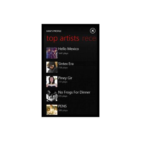 last fm mobile guide to using last fm for windows phone 7
