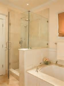 Bathroom Shower And Tub Ideas Separate Shower And Tub Along Same Wall Bath Ideas