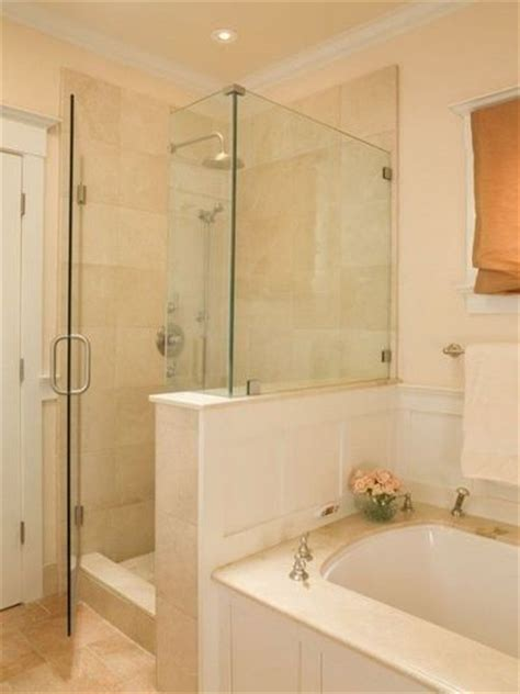 separate bath and shower separate shower and tub along same wall bath ideas juxtapost