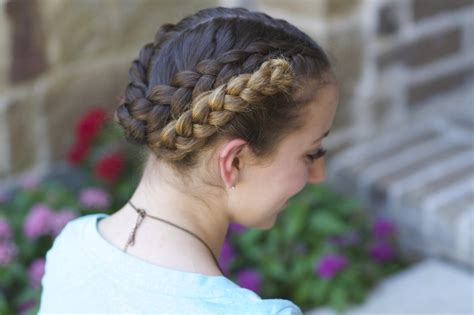 Hairstyles For School For To Do by Easy Fold Up Braids Back To School Hairstyles