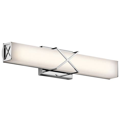 modern bathroom vanity light fixtures kichler 45657chled trinsic modern chrome led 22 quot vanity